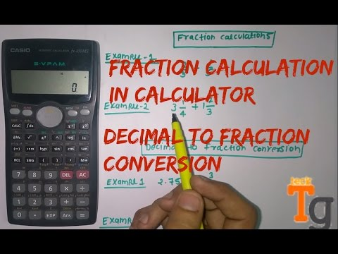 How To Calculate Fraction In scientific Calculator | Any calculator