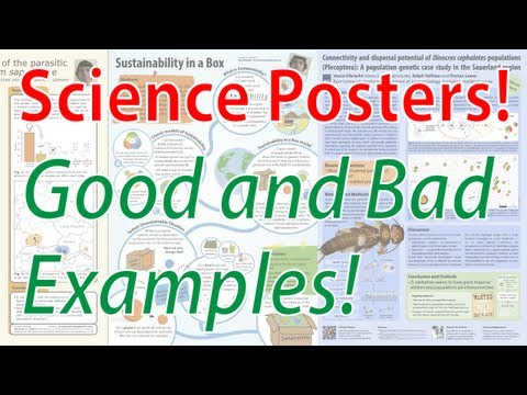 Scientific Poster Design - Good and Bad Examples! (Poster Tutorial Part 2)