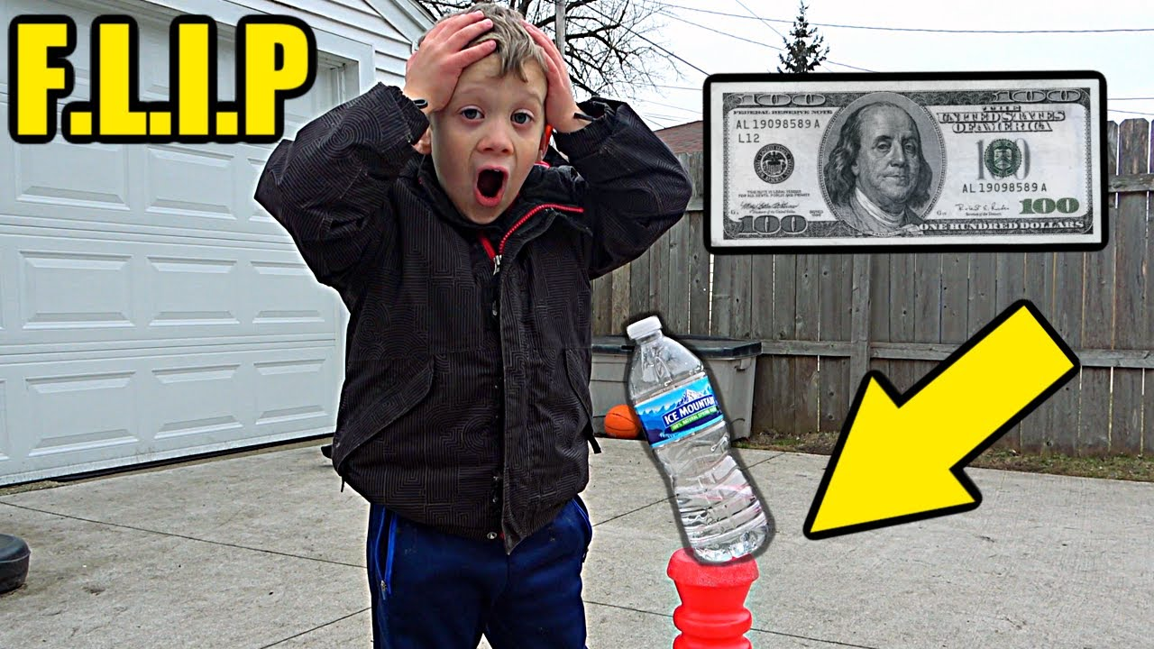 Game of Bottle Flip for $100 (SEMI-FINALS)   Colin Amazing