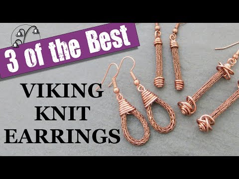 Viking Knit Earrings - Jewelry Tutorial
