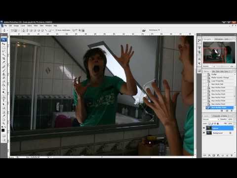 Photoshop Tutorial - How to change the mirror reflection