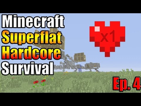 Minecraft Xbox One Superflat Hardcore Survival Ep. 4