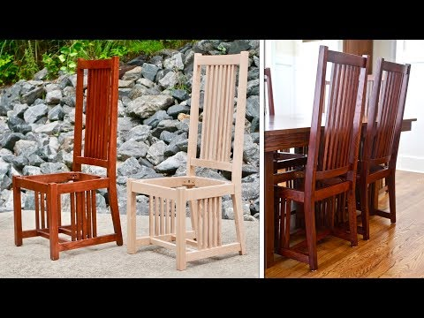 Mission Style Dining Chair | How To Build Part 1 / Arts and Crafts Style Woodworking