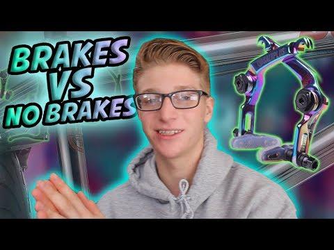BMX BRAKES VS NO BRAKES!