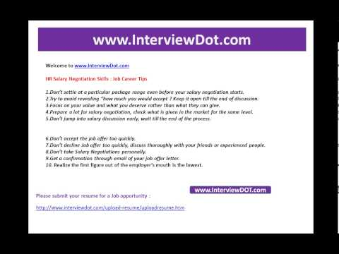 Top 10 Tips for Salary Negotation   JOb interview interviewdot