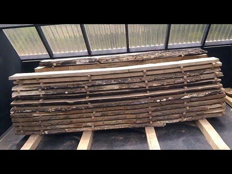 Solar Wood Kiln Unload