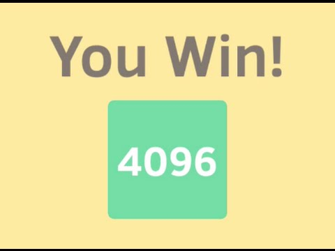 How to get 4096 in 2048 game. Full video.