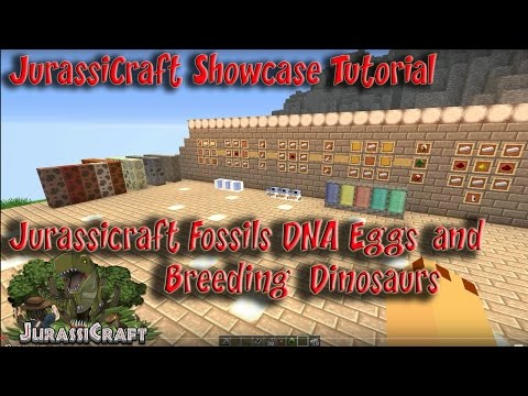 Jurassicraft 1.3 Mod Tutorial Dinosaurs from Fossils DNA Extractor DNA Combinator Egg Cultivator
