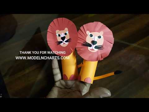 HOW TO MAKE LION PUPPET WITH CRAFT