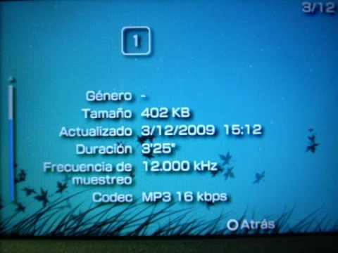 Error de sony PSP digital comics mp3 16 kbps 32kbps