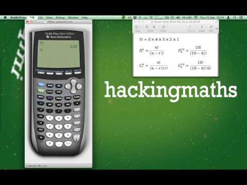 How to calculate Factorials, Permutation and Combinations on the
