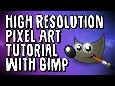 High Resolution Pixel Art Tutorial With Gimp