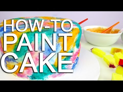 How To PAINT A Watercolour Cake Using Food Colouring!