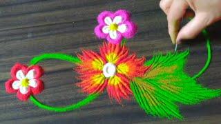 Creative and beautiful rangoli design by Jyoti Raut Rangoli