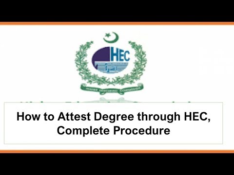 How to Attest Degree through HEC, Complete Procedure