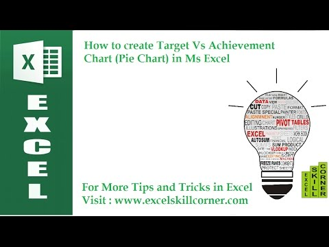 How to create Target Vs Achievement Chart (Pie Chart) in Ms Excel