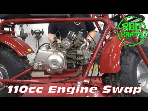 Coleman Mini Bike 110cc Engine Swap ~ Mini Bike Monday