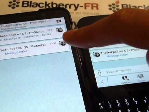 BBM : Prenez le contrôle de vos messages dans BlackBerry Messenger