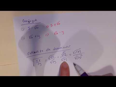 Conjugates and rationalizing the denominator