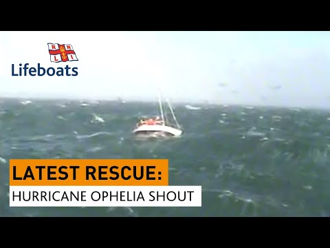 Rosslare Harbour rescue 3 men on 10m yacht amidst hurricane Ophelia