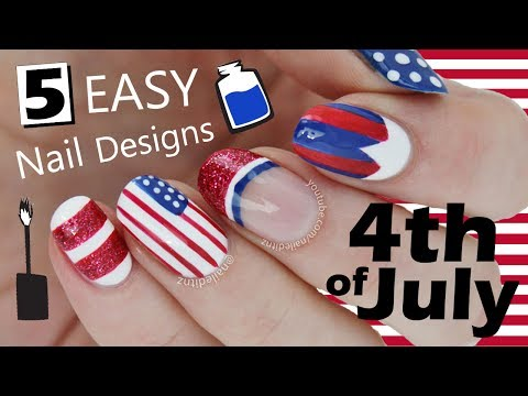 FIVE IN FIVE | Easy Fourth Of July Nail Art | Nailed It NZ