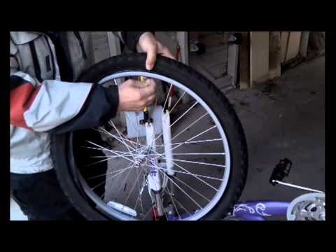 How to change a bicycle innertube