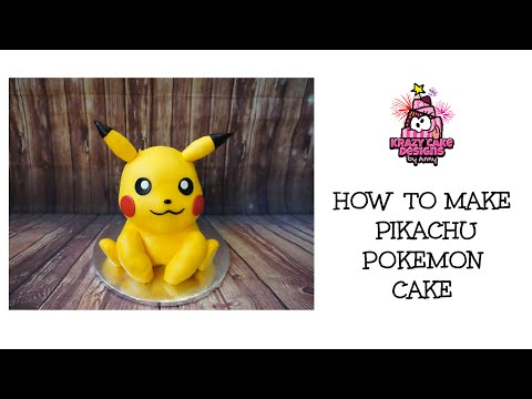 How to make Pikachu Pokemon cake/ เค้กโปเกมอน