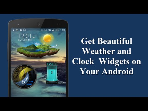 Get Beautiful Weather and Clock Widgets on Your Android