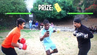 I Setup a Boxing Tournament for the iPhone 11 at School! HE GOT KNOCKED OUT!?!