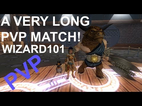 Wizard101 A VERY VERY LONG PVP MATCH! OVER 2 HOURS LONG!