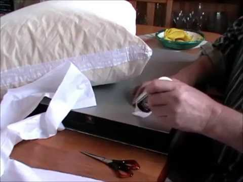 How to stop feathers leaking from cushions