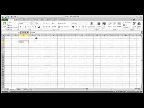 MS Excel: How to keep leading zeros