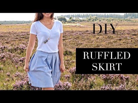 DIY   How To Make A Ruffled Skirt   Szilvia Bodi