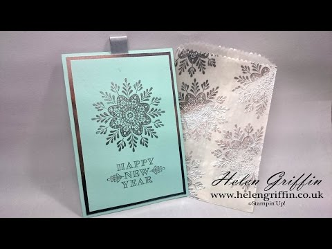 Elegant New Years Party Invite Inside Pretty Snowflake Bag Envelope