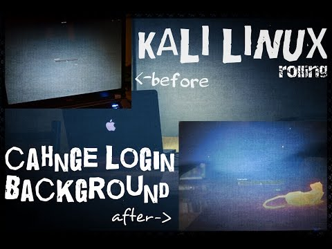 [ How To - Kali Linux ] Change Login Screen on Kali Rolling - grey gnome shell background 2017
