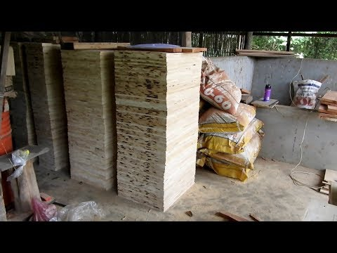 Khmer beekeeping_hives and frames building in my apiary