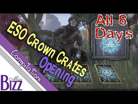 PTS ESO Crown Crates Openings All 8 Days Worth! Elder Scrolls Online