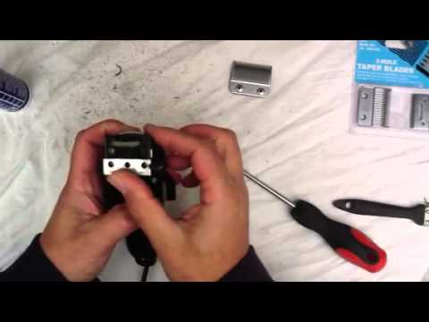 How to clean and change blades on Wahl taper clippers