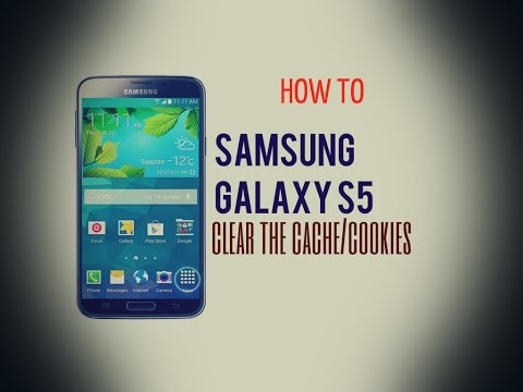 Samsung Galaxy S5 - How to clear the cache/cookies