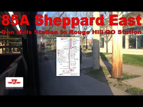 85A Sheppard East - TTC 2014 Nova Bus LFS Artic 9092 (Don Mills Station to Rouge Hill GO Station)