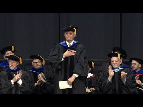 Pardee School of Global Studies Convocation 2018 Recognition of Senior Lecturer Wilfrid Rollman