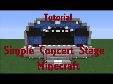 [Speed Build] Minecraft Simple Concert Stage