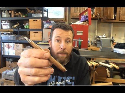 DIY one piece slimline wood pen hack- turn a pen