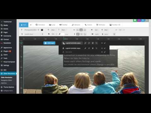 How to edit the REVOLUTION SLIDER in Wordpress