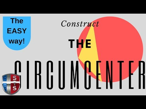 Geometry - Construct - Find the circumcenter of the triangle