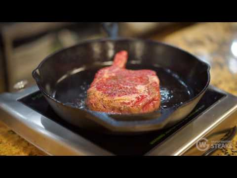Ribeye Steak Recipe: Cast Iron Bone-In Ribeye Steak (Cowboy Steak)