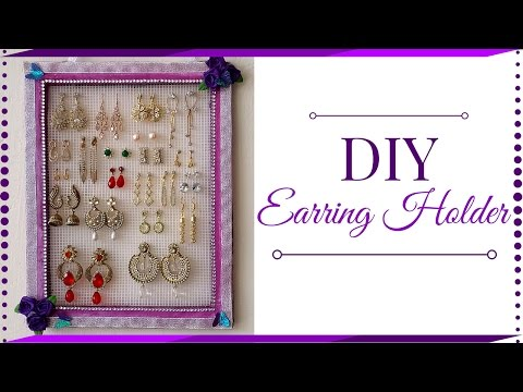 DIY Earring Holder | Jewelry Holder | Earring Holder Using Cardboard | Best Out of Waste!