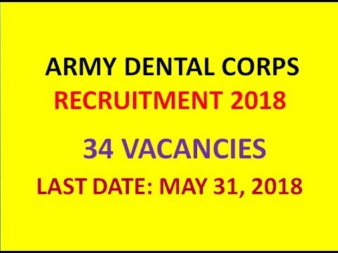 ARMY DENTAL CORPS | 34 SHORT SERVICE COMMISSIONED OFFICER POSTS | BDS/MDS ELIGIBLE |APPLY BY MAY 31|