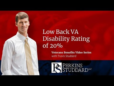 Low Back VA Disability Rating of 20%