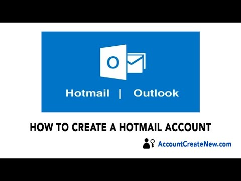 How To Create a New Hotmail Account - 2018